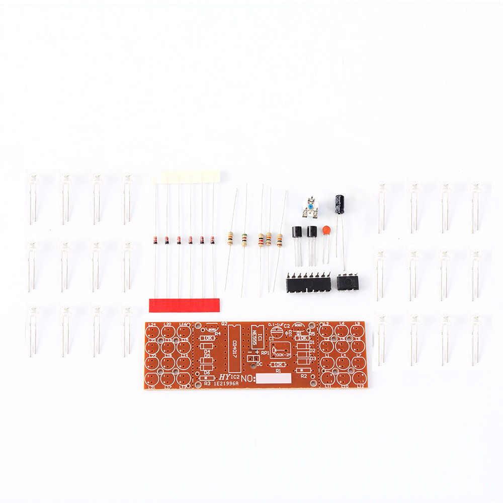 Hehilark NE555 CD4017 Module de Suite de kit de Carte de lumi/ères Double Couleur Rouge Bleu