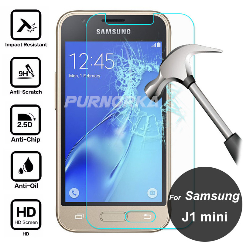 For Samsung Galaxy J1 Mini 2016 Tempered Glass Protective Film 9H Front Screen Protector On J1 mini J105 J105F J105H J1 Nxt Duos