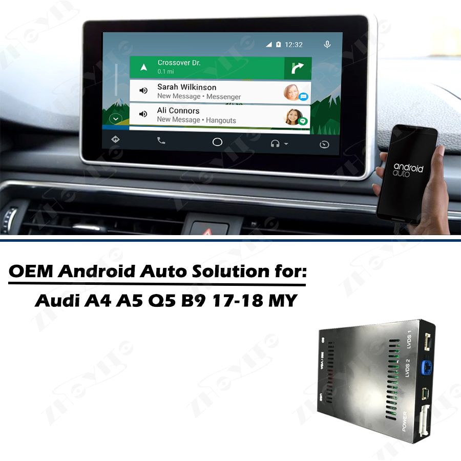 US $267 38 19% OFF|Aftermarket OEM Apple Carplay Android Auto Retrofit 2017  2018 A3 A4 A5 Q5 B9 Smart Apple Car Play Box IOS Airplay for Audi-in Car