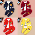 2016 new children's Fashion Clothes set Boys Clothing autumn zipper set  Fashion Cotton Long Sleeve Kids Clothing  Bear Cartoon