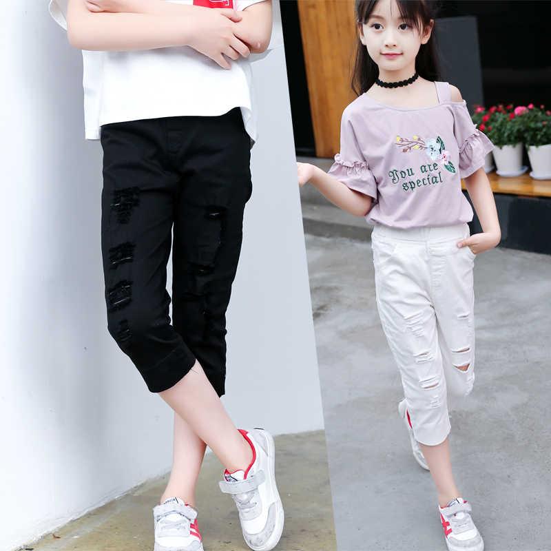 Jmffy وقع الصيف أزياء الأطفال الفتيات السراويل 2018 الأطفال ملابس فتاة بنطلون طفل أبلى جيوب أطفال القطن السراويل