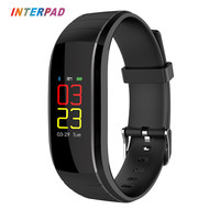 Interpad Smart Bracelet With Waterproof Passometer Blue Bracelets Support Heart Rate Monitor Fitness Bracelet For IOS
