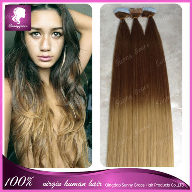 Colour 422 Ombre Tape Hair Extensions Cheaper 100 Human Brazilian