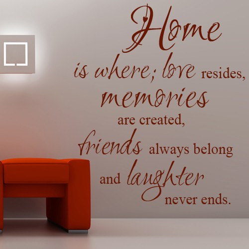 Home Where Love Resides, Memories Are Created Family Vinyl