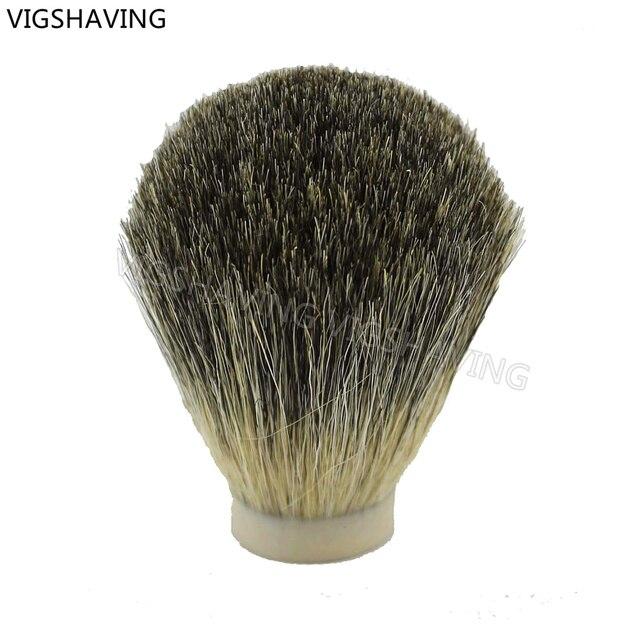 25.5/68mm Grey Pure Badger hair Shaving Brush Knots Head For DIY Brush Handle