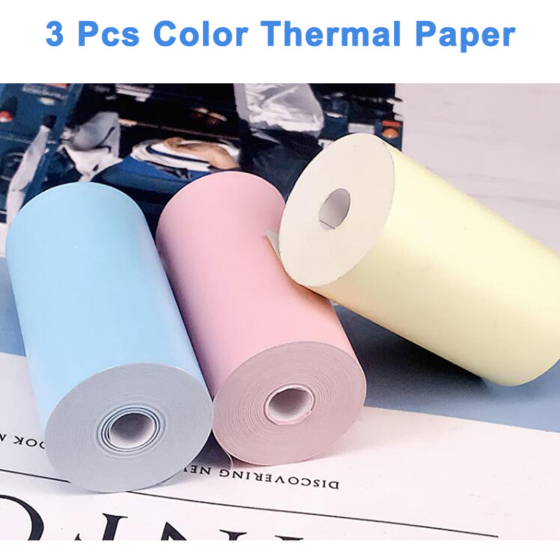 PeriPage paper ANG термобумага этикетка бумажный стикер бумага для фотопринтера - Цвет: Color Thermal Paper