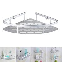 1PCS Metal Storage Holder Wall Mounted Sink Corner Rack Shelf Kitchen Bathroom Holder Sundries Cosmetic Organizer