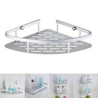 1PCS Metal Storage Holder Wall Mounted Sink Corner Rack Shelf Kitchen Bathroom Holder Sundries Cosmetic Organizer