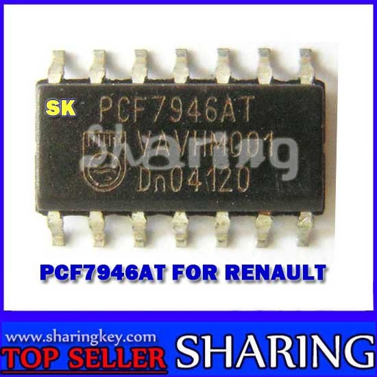 Free shpping (10pcs/Lot) Original Brand New Renault  Pcf7946  Transponder Chip For renualt car key