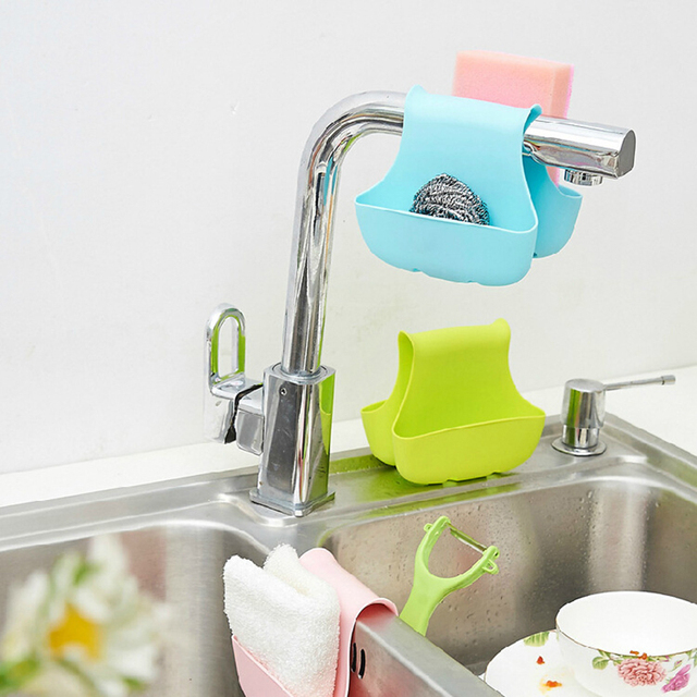TTLIFE Super Double Sink Caddy Sponge Holder Saddle Strainer Organizer  Storage Rack Bathroom Kitchen