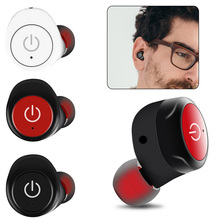 For Smartphone Mini Auricular Bluetooth Earphone Stereo HiFi In-Ear Earbud Active Noise Cancelling