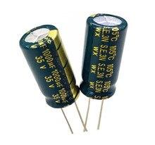 10pcs 35V 1000UF 1000UF 35V 1000uf35v 35v1000uf  power supply special high-frequency crystal 10pcs/pack  Size:10*20