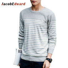 Striped Pullover Men 2016 Autumn Winter Men's Sweater Fashion Brand Casual Shirts Clothing Long Sleeve Slim Fit Pull Homme
