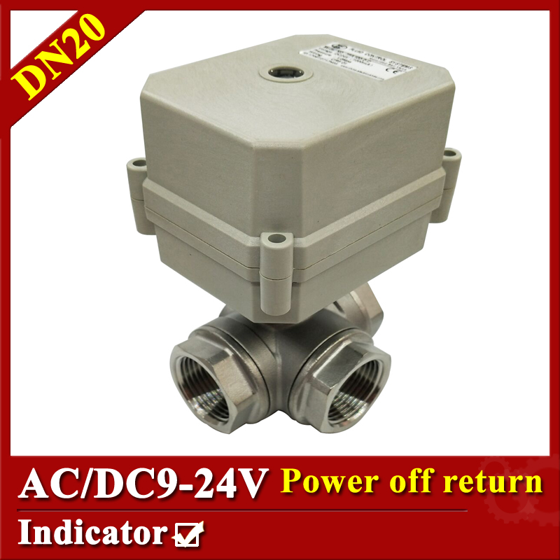 Tsai Fan 3 Way 3/4 DN20 Stainless Steel Power Off Return Valve AC/DC9-24V 2/5 Wires Electric Motor Valve BSP/NPT 2 way stainless steel 3 4 full port motorized valve with manual override ac dc9 24v 3 wires on off 5 sec metal gear max 1 0mpa page 6