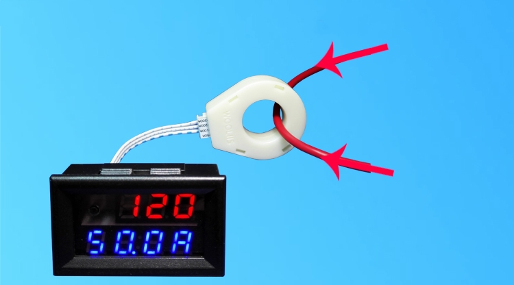 Battery Monitor 5-120V 100A Voltage Current Remaining Capacity Meter Hall Sensor
