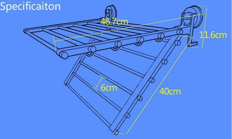 sucção cremalheira telescópica pendurar secagem rack