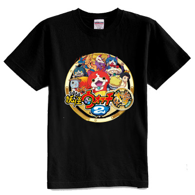 Anime Yo-kai Watch Cosplay Costume Nathan Adams/Jibanyan/Whisper T-Shirts Summer Style Cotton Short Sleeves T Shirt For Kids