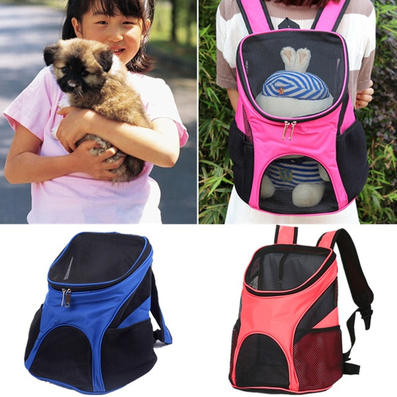 4 Colors Red Pet Dog Carriers Pet Cat Outdoor Travel Carrier Packbag Portable Zipper Mesh Backpack Breathable Dog Bags Supplies #2