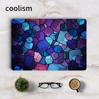 Purple 3D Cubes Full Cover Skin Laptop Sticker For Apple Macbook Air Pro Retina 11 12