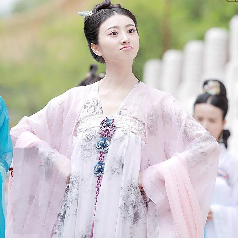 Jing Tian Shen Zhenzhu Princess Costume Hanfu of Tang Dynasty High Waist RuQun for New TV