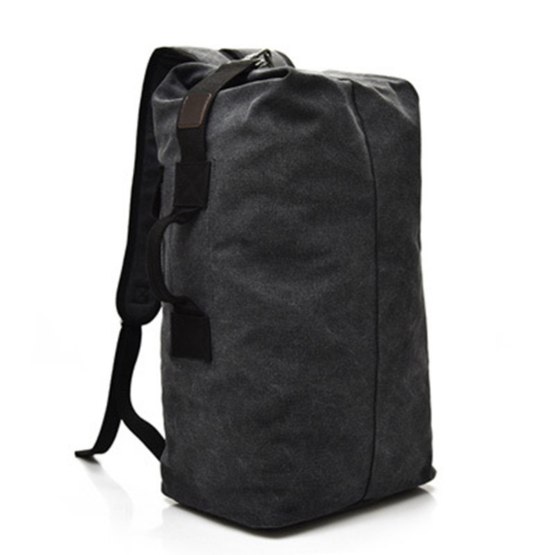 Vintage Canvas Men Backpack Casual Travel Backpacks Man Daily Bucket Shoulder Bags Large Capacity Rucksack for Boys high quality retro style men backpack multifunction casual travel canvas backpacks daily rucksack cotton canvas backpack