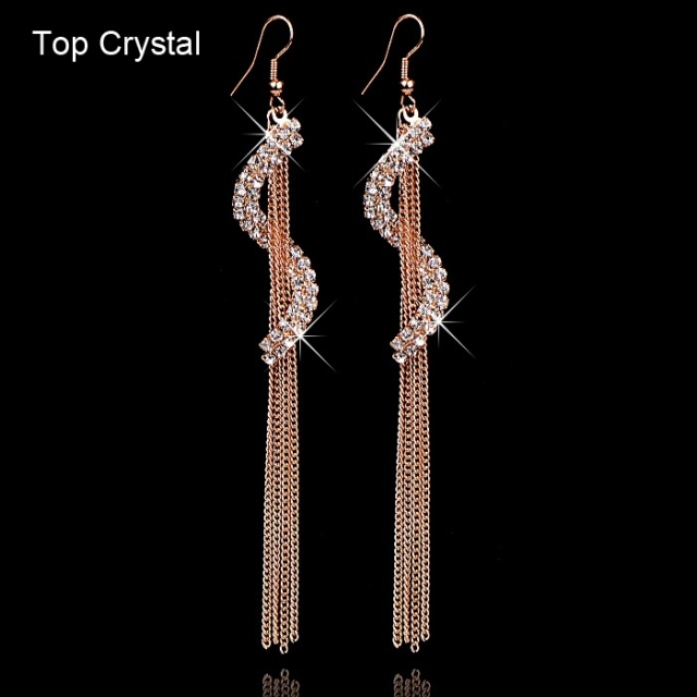 Christmas Gift Crystal Earrings For Women