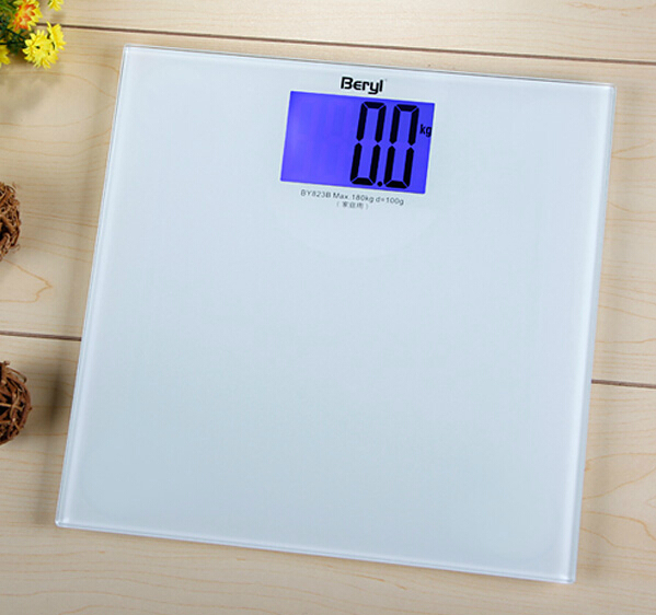 Free Shipping 2014 New Mini Higher Precision Digital Electronic Body Scale Weight LCD Display 180kg White
