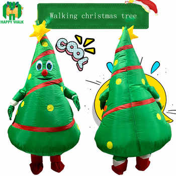 New style Christmas Cartoon Doll Costume Inflatable Santa Claus Dress Up Props Funny Mascot Inflatable Christmas Tree Clothes