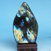Mineral crystal specimens of natural Moonstone labradorite stone spectrum stone ornaments teaching specimens playing 5