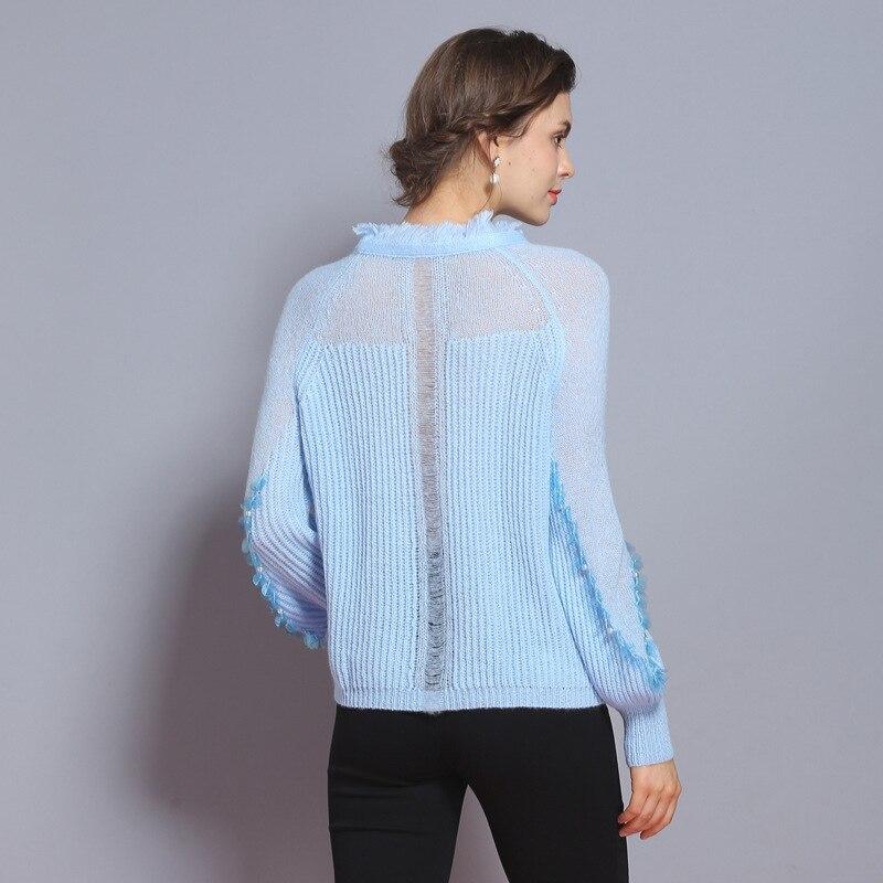 Pulls Qualité Haute Manches À Perles Chandail Tricoter Xiangshi Lanterne Femmes 0qwFp7v