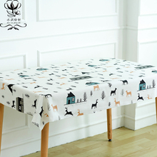 2017 NEW Diy Lucky Deer Printed Linen Cotton Fabric for Patchwork Sewing Craft Tablecloths Bedding Home Decorating Textile Cloth