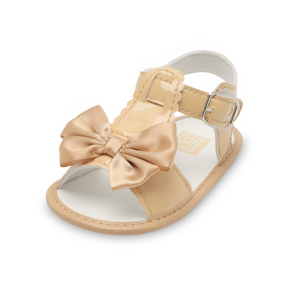 98d75a2b2a0 Baby girls shoes new born Skid-Proof butterfly-knot sweet cute hook loop  toddler designer footwear summer kids pu leather