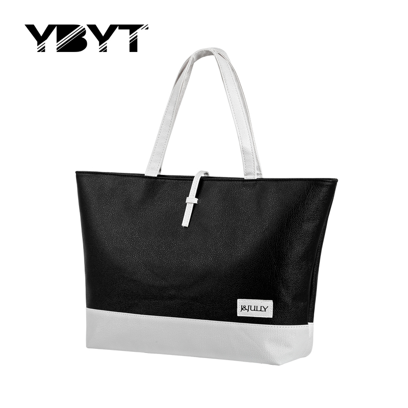 YBYT brand 2017 new patchwork totes candy color handbag hotsale women fashion shopping satchel lady purse shoulder messenger bag