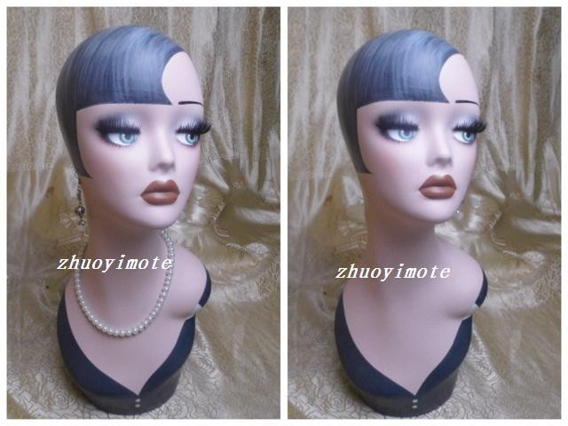 High Quality Fiberglass Vintage Female Mannequin Dummy Head Manikin Heads Hat