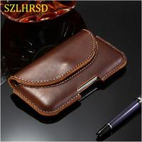 SZLHRSD For AGM H1 Case Genuine Leather Holster Belt Clip Pouch Funda Cover Waist Bag Phone cover for AGM X1 X2 X3 A7 A8 M1 M2