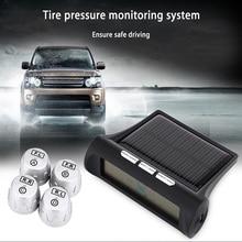 Solar TP880 Car Tire Pressure Monitoring System TPMS 4 External Internal Sensor Auto Alarm System LCD