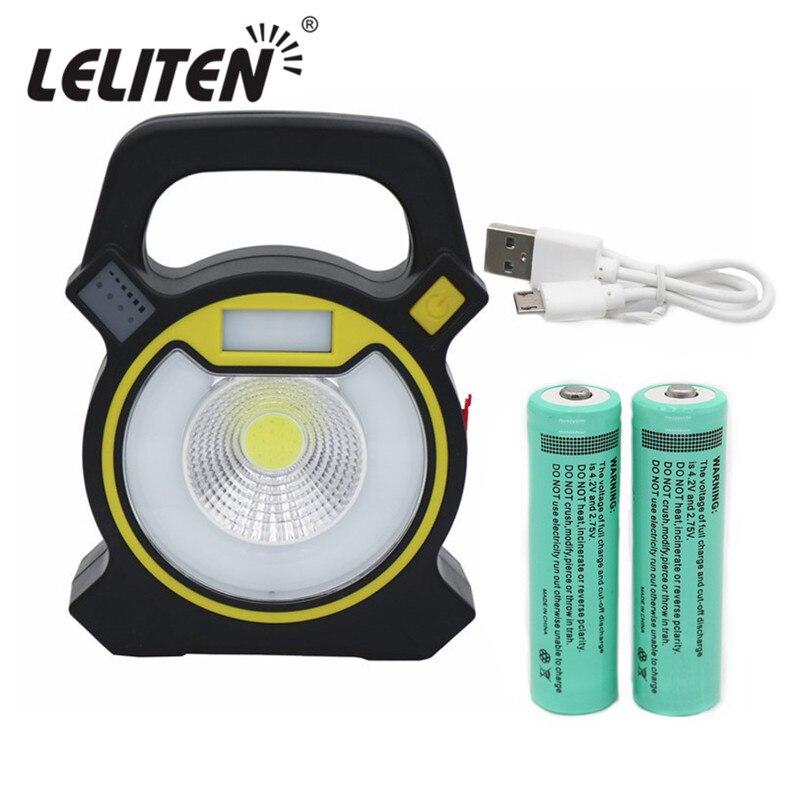 Mobile phone  Charge 15W COB LED Portable LED Flashlight Outdoor lighting Tent light Waterproof  Torch Fishing Handheld lamp 20w cob bright light ll 811