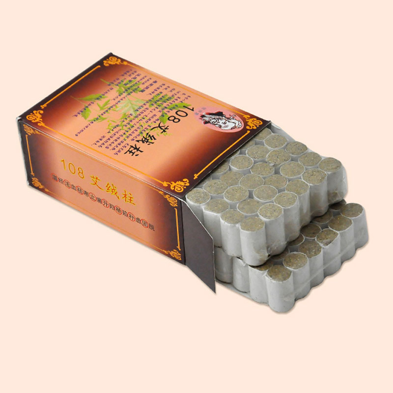 Chinese Medical Treatment Body Shoulder Therapy High Quality 5 Years Old Pure Moxa Roll 20:1 Artemisia Moxibustion Box 108pcs