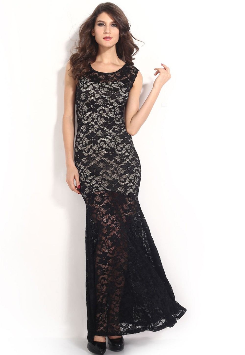 Two-toned-Sexy-Lined-Long-Lace-Evening-Dress-LC6350-15406