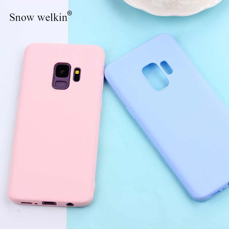 Matte Candy TPU Case For Samsung Galaxy S10 Plus S10E S8 S9 Note 9 8 5 A7 2018 S6 S7 Edge J3 J5 J7 2016 2017 J4+ J6 EU A6 A8
