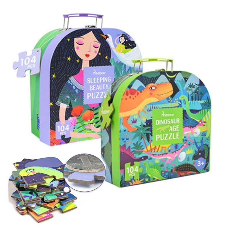 100 pcs Jigsaw Puzzle Jeux Montessori Éducatifs Jouets Pour Enfants Jigsaw Puzzle D'apprentissage En Développement Jouets Pour Garçon Filles