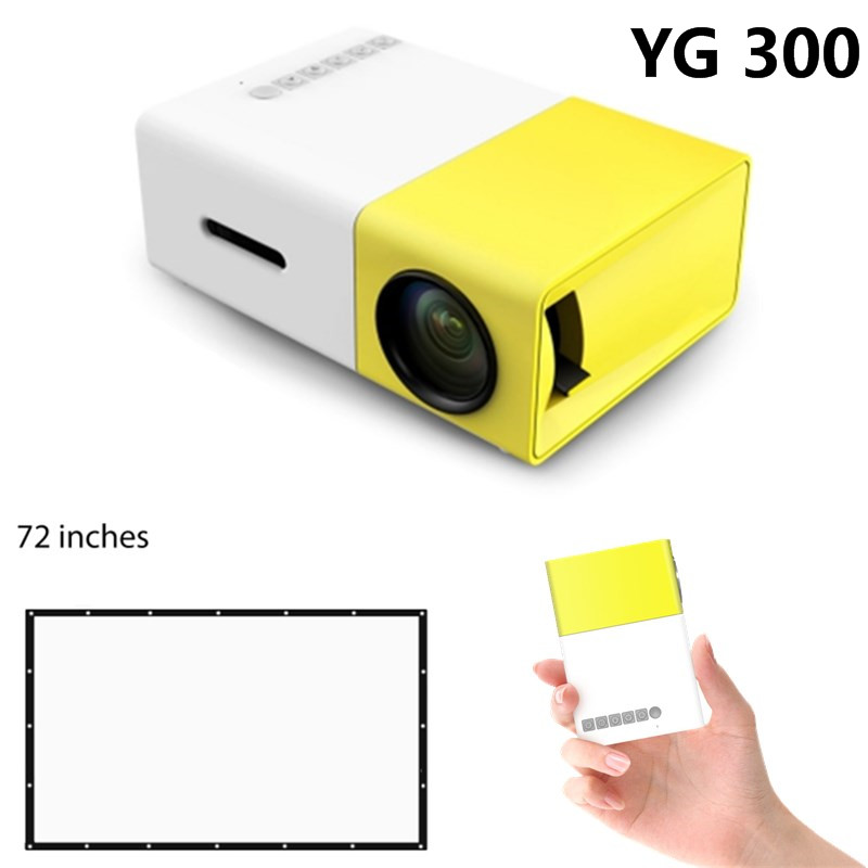 YG300 Projector LED Portable YG-300 Projector 400-600LM Audio 320x240 Pixels HDMI USB Mini Projector Support Drop shipping original yg300 mini projector full hd led projector 500lm audio hdmi usb mini yg 300 proyector home theater media player beamer