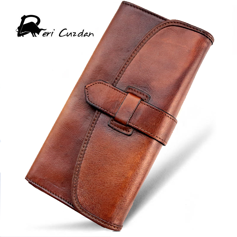 DERI CUZDAN Real Genuine Leather Men Wallet Casual Wallet for Mens Purse Hasp Long Solid Color Wallets Male Phone Holder Stylish casual leather men purse hasp long mens wallet with cell phone pocket cowhide patent leather male cluth photo holder wallet