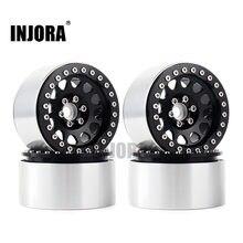 Injora 4 pçs 1/10 rc rock crawler alumínio 2.2 beadlock roda jantes para axial scx10 rr10 wraith 90048 90018 traxxas trx4 TRX-6