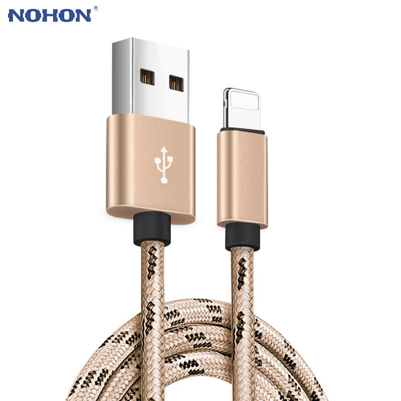 1, 2, 3 m USB cable de datos de cargador para iphone cable Xs max Xr 8X8 7 6 plus 6s 5 s plus ipad mini carga rápida teléfono móvil