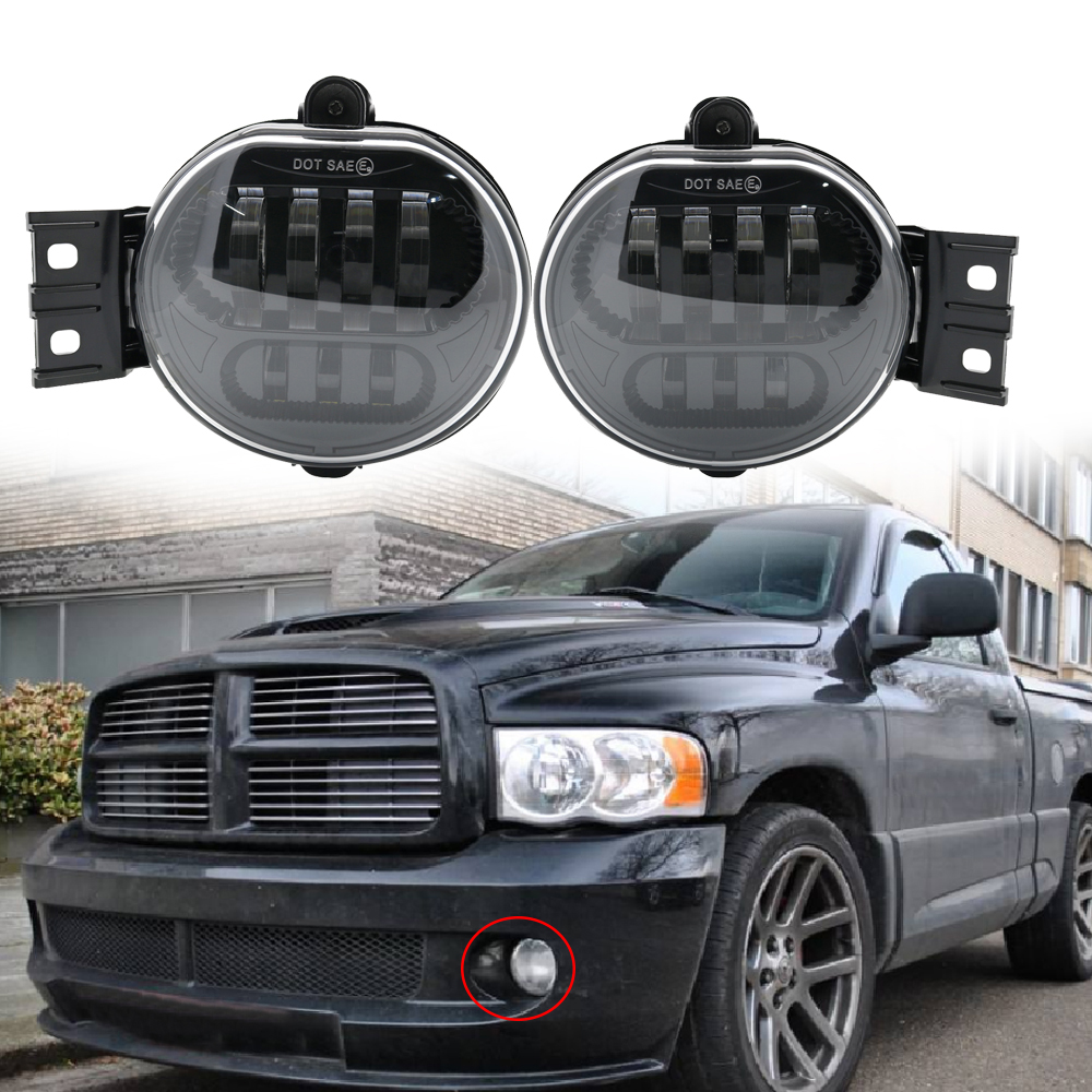 Pair Fog Lamp For 2002 2008 Dodge Ram 1500 2500 3500 2004 2006 Dodge Durango Fog