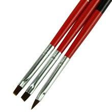 Размеров/комплект профессиональная плоским уф-гель рисунок живопись pen кисти nail art щетка