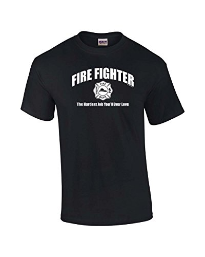 Funny T Shirt Design Novelty Men O Neck Firefighter The Hardest Job You 39 ll Ever Love Short Sleeve Tees in T Shirts from Men 39 s Clothing
