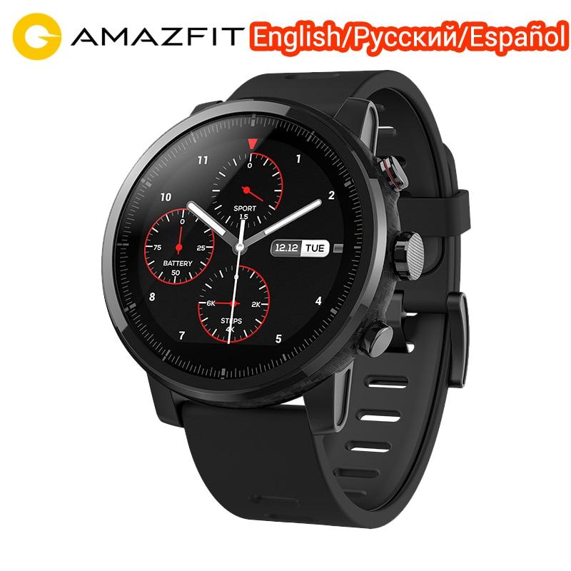 Xiaomi Huami Amazfit Stratos 2 Amazfit ritmo 2 reloj inteligente Monitor de ritmo cardíaco versión en inglés con GPS deporte impermeable reloj inteligente