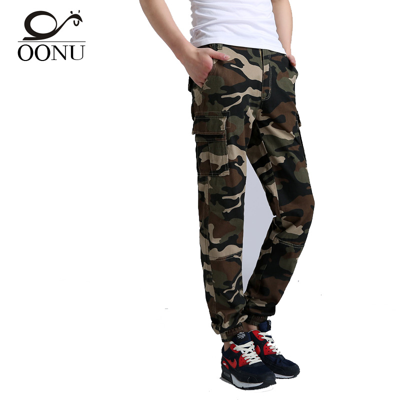 Brand Mens Pants Hip Hop Skinny Camouflage Men Pants Military Fashion Harem Pants Men Skate Sweatpants JM-RXMC